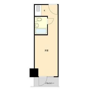 新宿區歌舞伎町-1R公寓大廈 房間格局