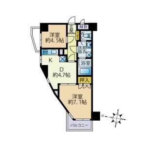 2DK Mansion in Zoshigaya - Toshima-ku Floorplan