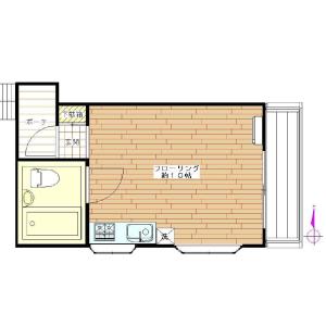 1R Apartment in Mita - Meguro-ku Floorplan