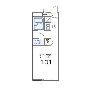 1K Apartment in Inadera - Amagasaki-shi Floorplan