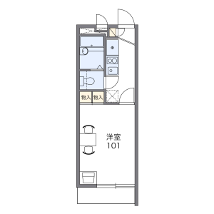 1K Mansion in Yamamotodori - Kobe-shi Chuo-ku Floorplan
