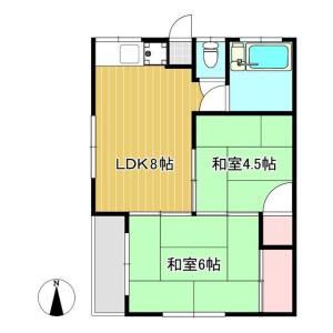 2LDK Apartment in Shiba - Kawaguchi-shi Floorplan