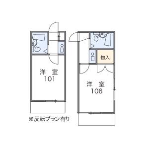 1K Apartment in Kamikocho - Saitama-shi Omiya-ku Floorplan