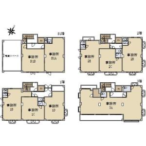 Whole Building {building type} in Higashi - Shibuya-ku Floorplan
