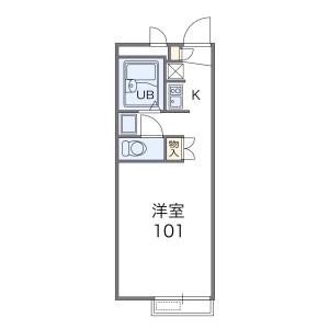 1K Apartment in Kema - Amagasaki-shi Floorplan