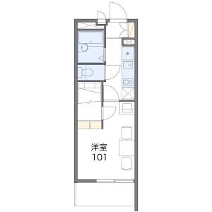 1K Apartment in Yuko - Chiba-shi Chuo-ku Floorplan