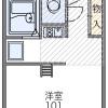 在大阪市平野區內租賃1K 公寓大廈 的房產 房間格局