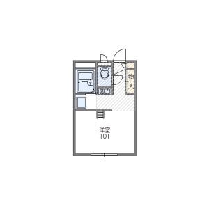 大阪市平野區瓜破-1K公寓大廈 房間格局