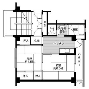 2K Mansion in Kasaharacho - Tajimi-shi Floorplan