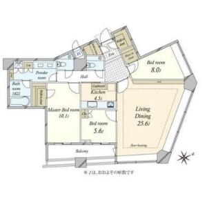 3LDK {building type} in Akasaka - Minato-ku Floorplan