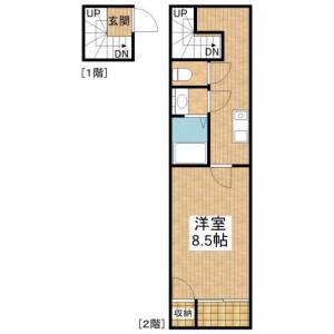 1K Apartment in Yagicho - Hachioji-shi Floorplan