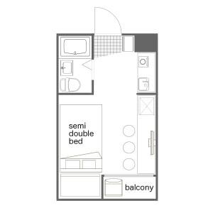 1K Mansion in Nishishinjuku - Shinjuku-ku Floorplan