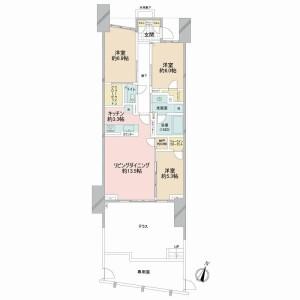3LDK {building type} in Minamimotomachi - Shinjuku-ku Floorplan