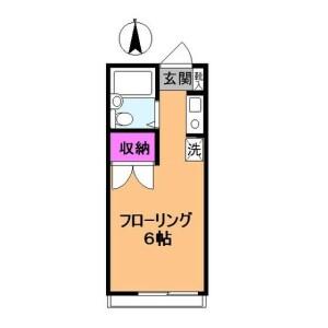 國分寺市東元町-1R公寓 房間格局