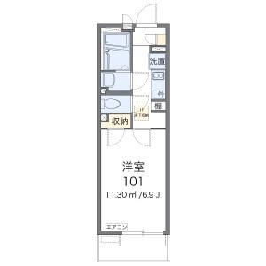 朝霞市岡-1K公寓 房間格局