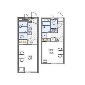 江戶川區北小岩-1K公寓 房間格局