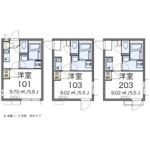 1K Apartment in Sendagi - Bunkyo-ku Floorplan