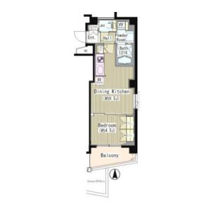 1LDK Mansion in Okusawa - Setagaya-ku Floorplan