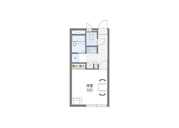 1K Apartment to Rent in Fukuoka-shi Jonan-ku Floorplan