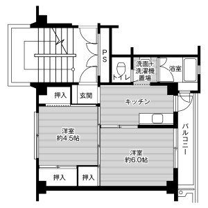 2K Mansion in Tomida - Ichinomiya-shi Floorplan