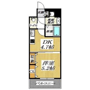1DK Mansion in Tsurumi - Osaka-shi Tsurumi-ku Floorplan