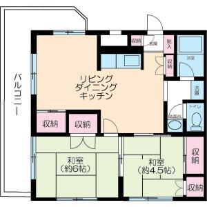 2LDK Mansion in Shimorenjaku - Mitaka-shi Floorplan