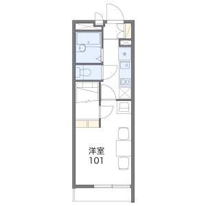1K Mansion in Ushigase shindembukecho - Kyoto-shi Nishikyo-ku Floorplan