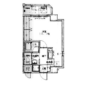 1K Mansion in Kitahama - Osaka-shi Chuo-ku Floorplan