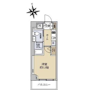 1K {building type} in Minamioi - Shinagawa-ku Floorplan