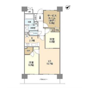 2SLDK Mansion in Oi - Shinagawa-ku Floorplan