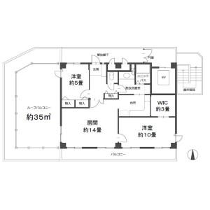 2LDK Mansion in Shirokane - Minato-ku Floorplan