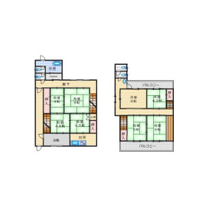 8DK House in Shoji - Osaka-shi Ikuno-ku Floorplan