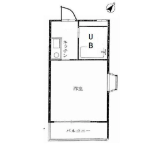 1K {building type} in Takaidonishi - Suginami-ku Floorplan