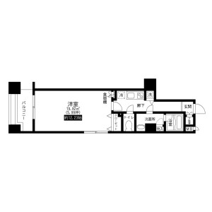 1K Mansion in Ikenohata - Taito-ku Floorplan