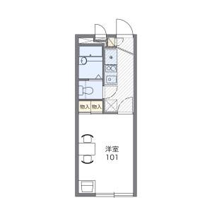 1K Apartment in Ogurisu nakayamadacho - Kyoto-shi Fushimi-ku Floorplan