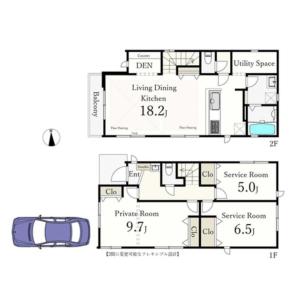1SLDK {building type} in Miyamae - Suginami-ku Floorplan