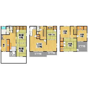 6SLDK Mansion in Amami minami - Matsubara-shi Floorplan