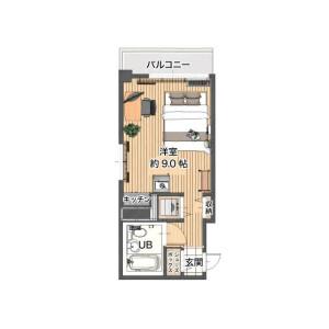 1R Mansion in Minamisaiwaicho - Kawasaki-shi Saiwai-ku Floorplan