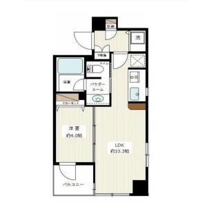 港区高輪-1LDK公寓大厦 楼层布局