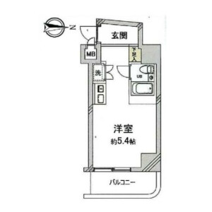 1R {building type} in Nishikawaguchi - Kawaguchi-shi Floorplan