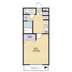 1K Apartment in Hyakunincho - Shinjuku-ku Floorplan