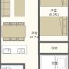 1LDK Apartment to Rent in Okinawa-shi Floorplan