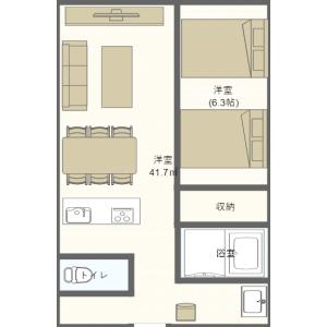 1LDK Mansion in Chibana - Okinawa-shi Floorplan