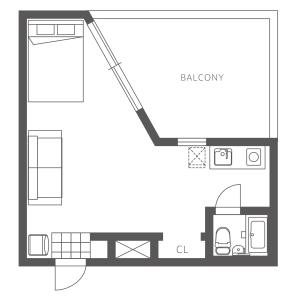 1K Mansion in Ebisunishi - Shibuya-ku Floorplan