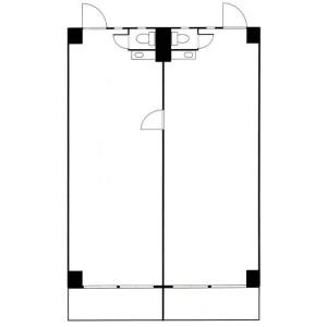 新宿区的办公室 - 商业性 楼层布局