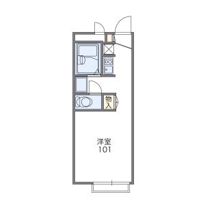 1K Apartment in Hino nishifurocho - Kyoto-shi Fushimi-ku Floorplan