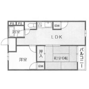 2LDK {building type} in Takakuradai - Sakai-shi Minami-ku Floorplan