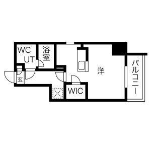 1R Mansion in Ibukacho - Nagoya-shi Nakamura-ku Floorplan