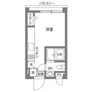 1R Mansion in Hatsudai - Shibuya-ku Floorplan
