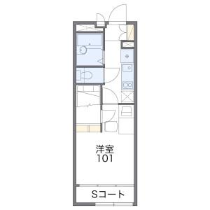 1K Apartment in Saginomiya - Nakano-ku Floorplan